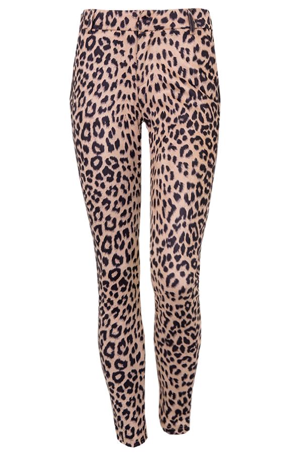 Suede-Leopard-Broek-Beige'
