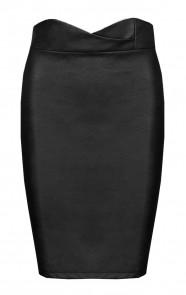 Leren-Kokerrok-Zwart