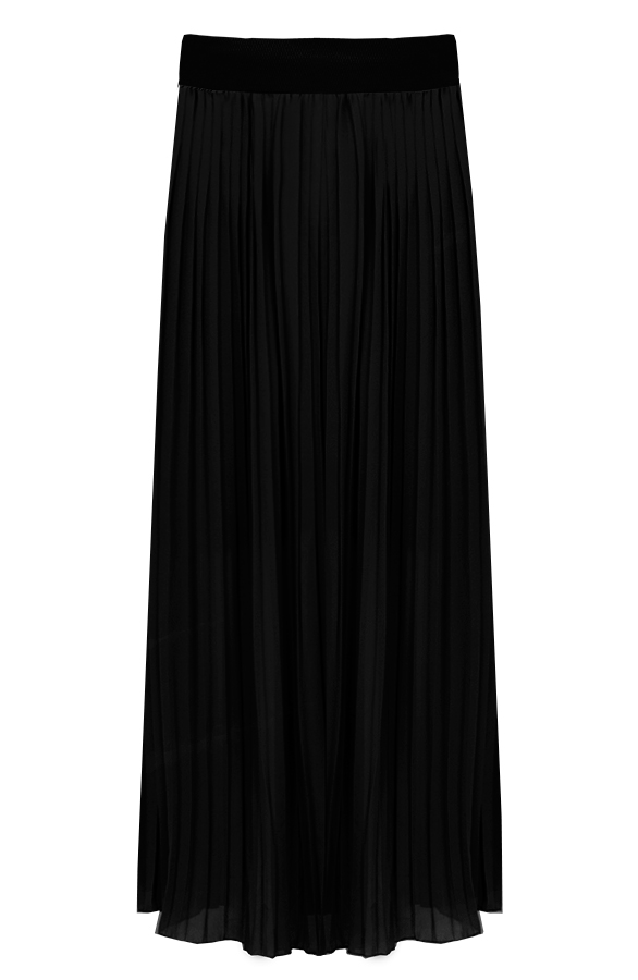Plooirok-Zwart'