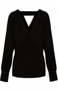 Knitted-Trui-Dames-Zwart