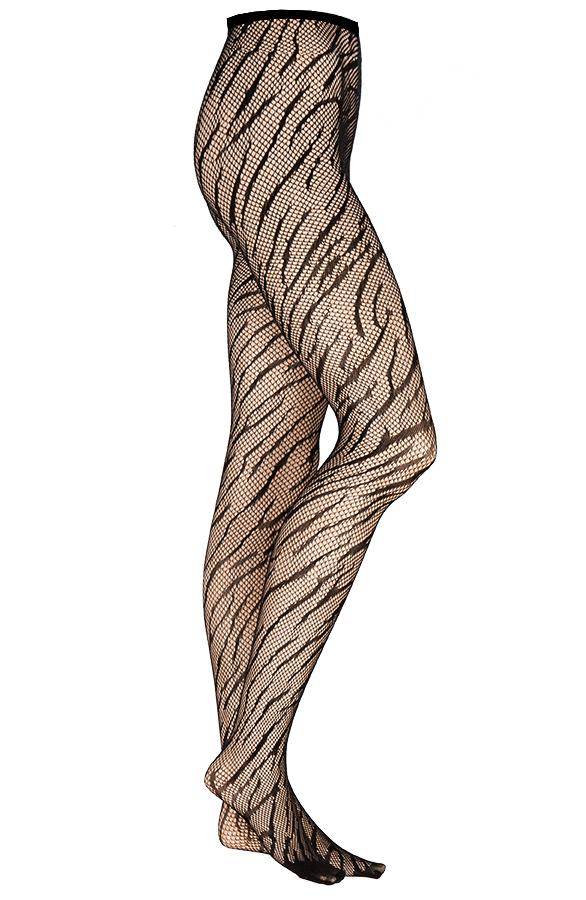 Zebra-Panty-Zwart-1'