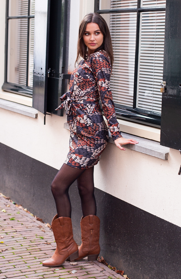 Anna-Print-Dress-Cognac-1