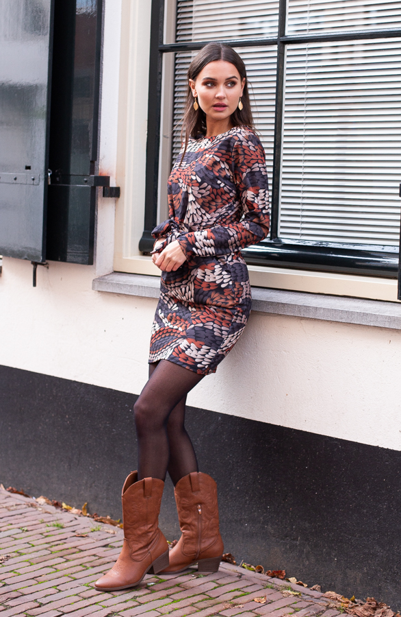 Anna-Print-Dress-Cognac-2
