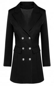 Button-Blazer-Dames-Zwart-586x900