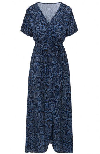 Chloe-Snake-Dress-Blue'