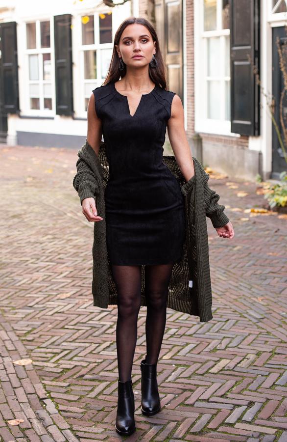 Donna-Suede-Jurk-Zwart-2-1
