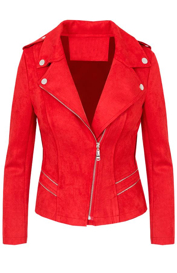 Jessie-Biker-Jacket-Rood'