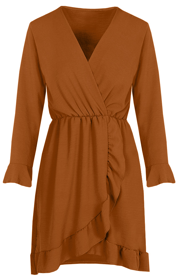 Josh-Dress-cognac'