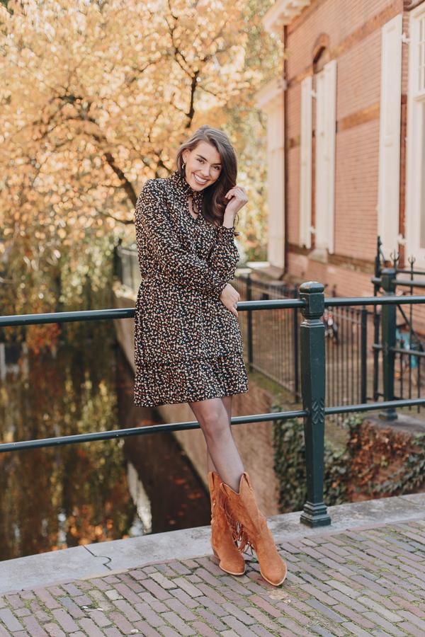 Kate-Print-Dress-Brown-1