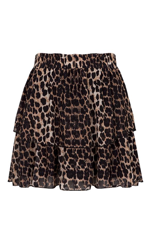 Leopard-Laagjes-Rok-Luxury'