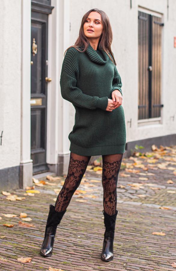 Maggie-Gebreide-ColJurk-Smaragdgroen-2