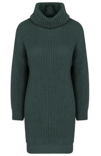 Maggie-Gebreide-ColJurk-Smaragdgroen'