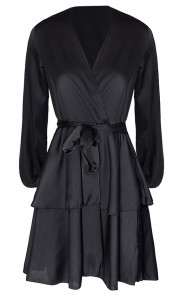 Olivia-Satin-Dress-Black