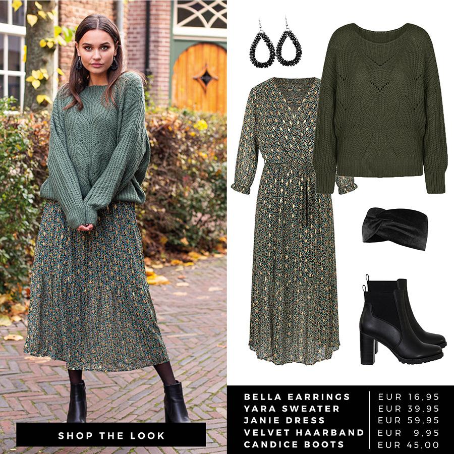 Shop-The-Look-Green-Sweater-Dress-1