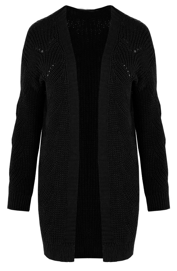 Susan-knitted-cardigan-black-1'