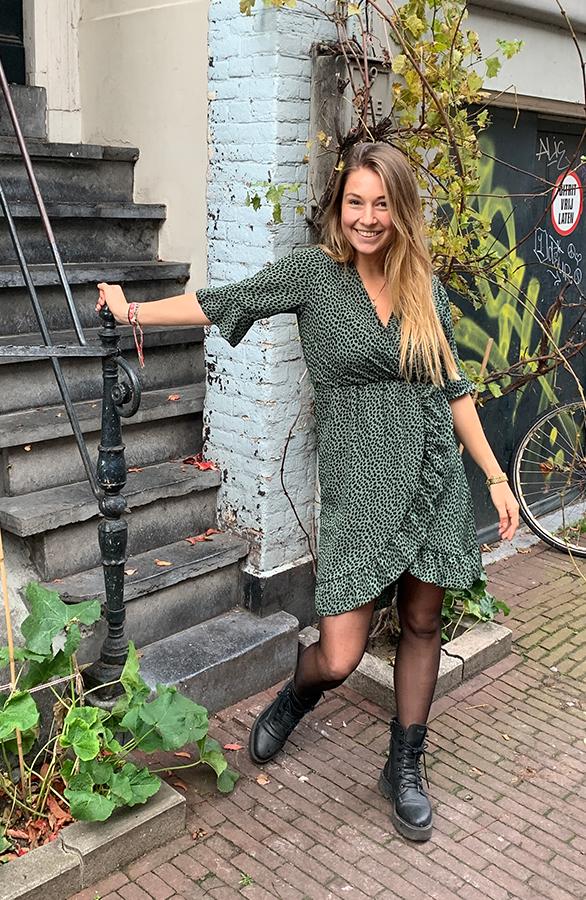 cheetah-print-jurken