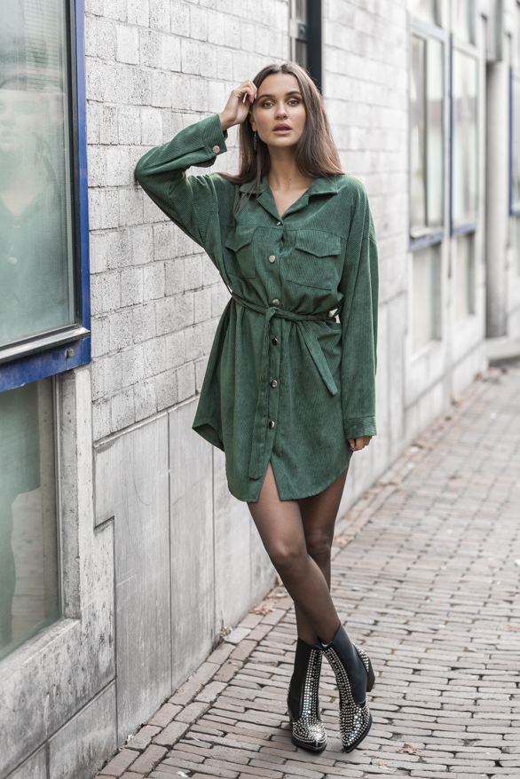 Peggy-Corduroy-Jurk-Smaragdgroen-1