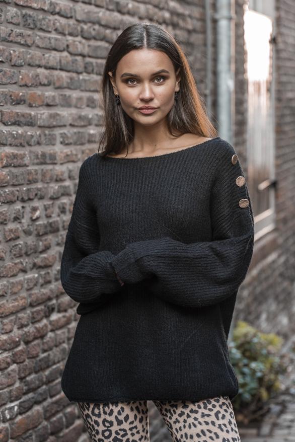 Silva-Button-Sweater-Black-2