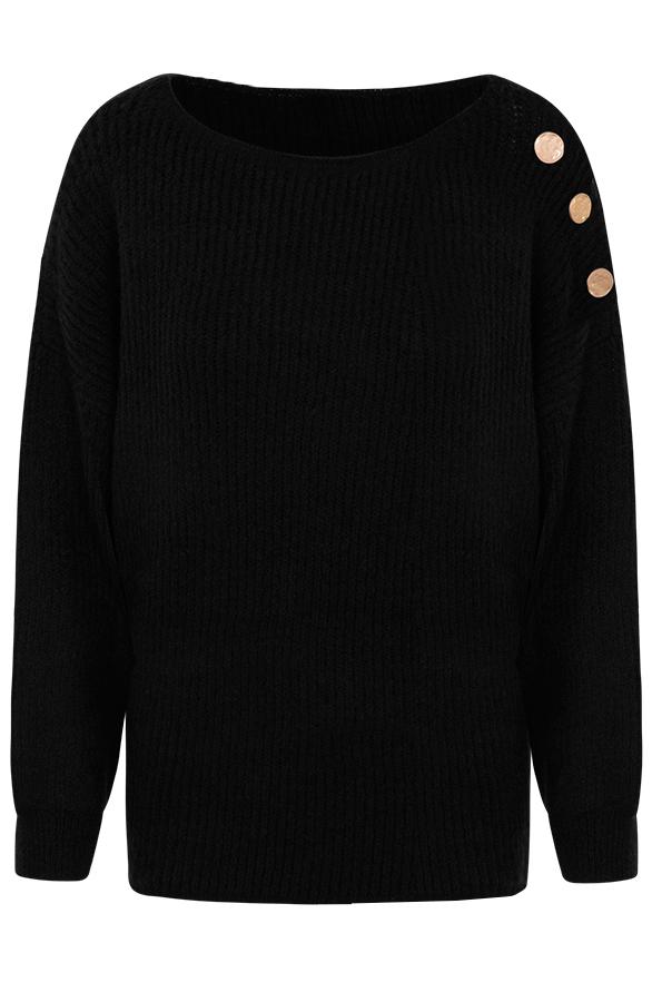 Silva-Button-Sweater-Black'