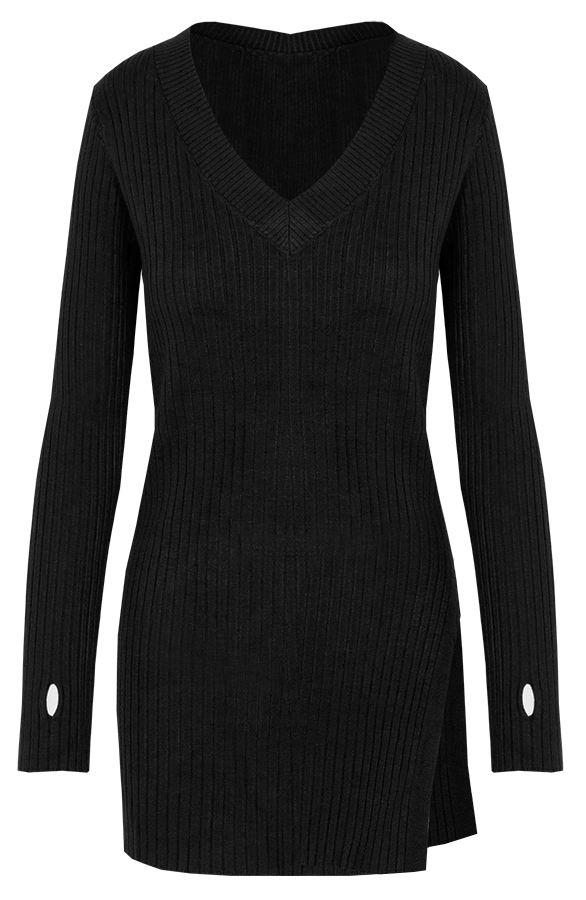 Sweater-Knitted-Black'