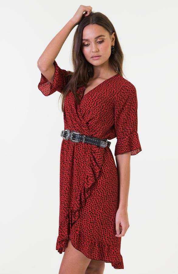 Ayla-Cheetah-Dress-Red-1