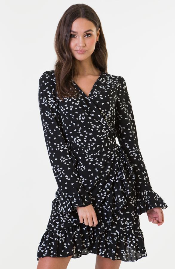 Bobbie-Heart-Dress-Zwart-Wit-1'