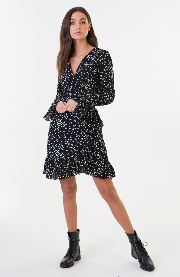 Bobbie-Heart-Dress-Zwart-Wit-2