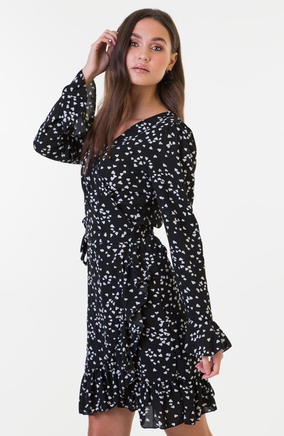 Bobbie-Heart-Dress-Zwart-Wit-3