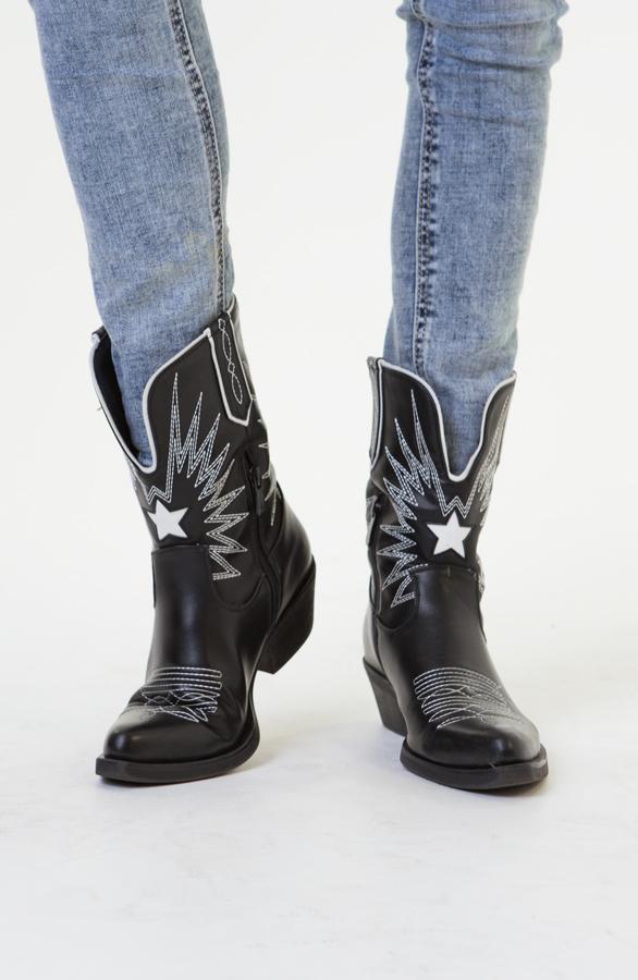 Charlie-Cowboylaarzen-Zwart-1'