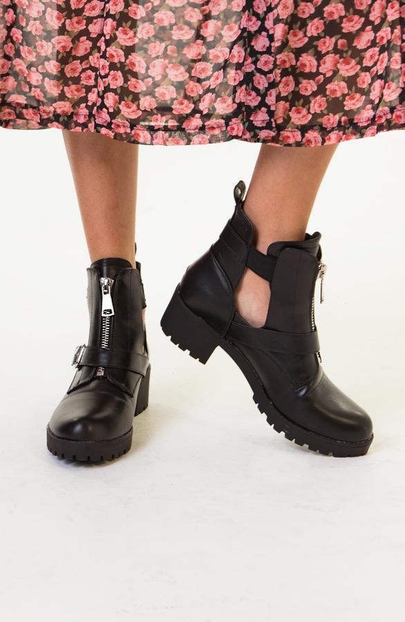 Cindy-Cut-Out-Boots-Zwart-1
