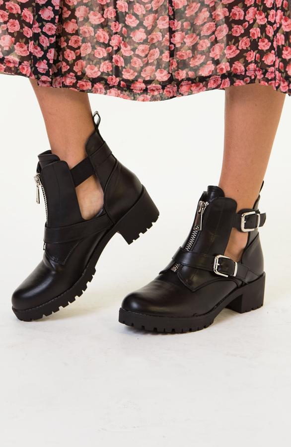 Cindy-Cut-Out-Boots-Zwart-2