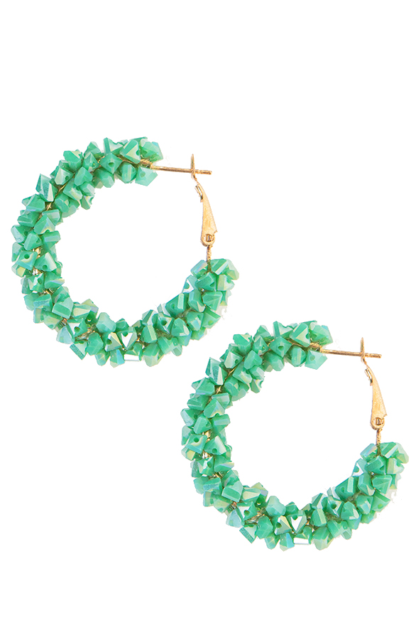 Creool-Luxury-Earrings-Green-3'
