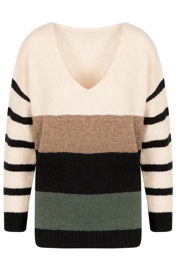 Esmee-Strepen-Sweater-Creme'