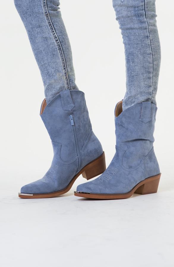 Iris-Cowboylaarzen-Metallic-Blauw-2