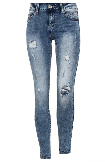 Jenna-Damaged-Jeans-Blauw'