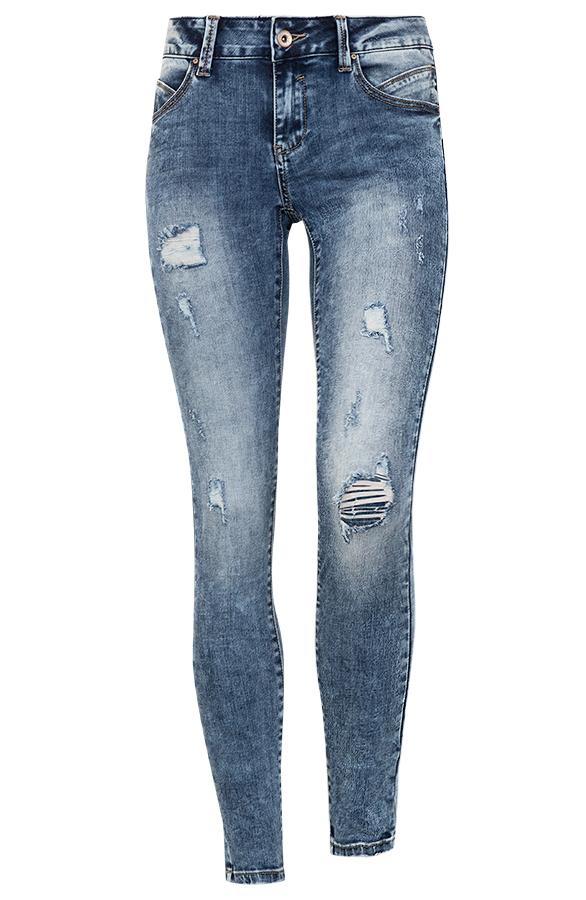 Jenna-Damaged-Jeans-Blauw'