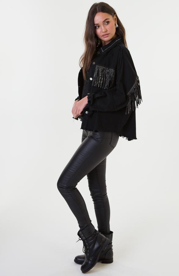 Jess-Fringe-Jacket-Zwart-2