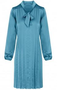 Laurie-Plisse-Jurk-Turquoise
