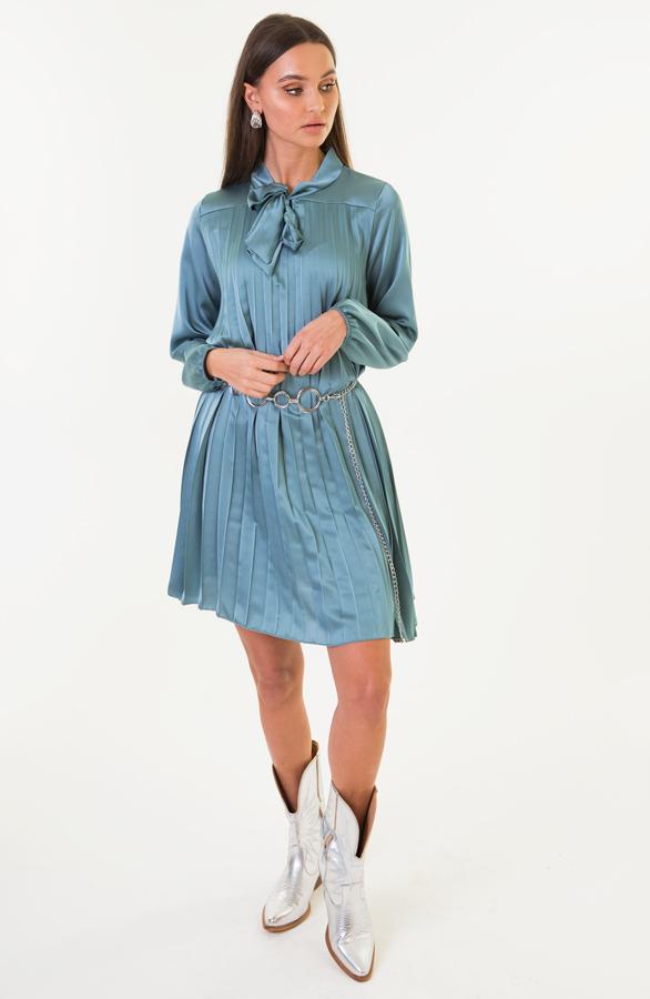 Laurie-Plisse-Jurk-Turquoise-3