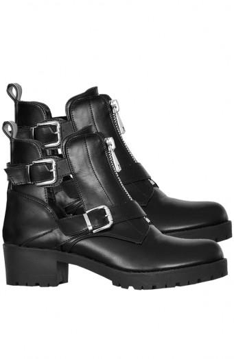 Leren-Cut-Out-Boots-Zwart'