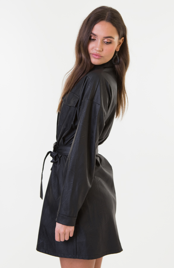 Lina-Leather-Dress-Short-1