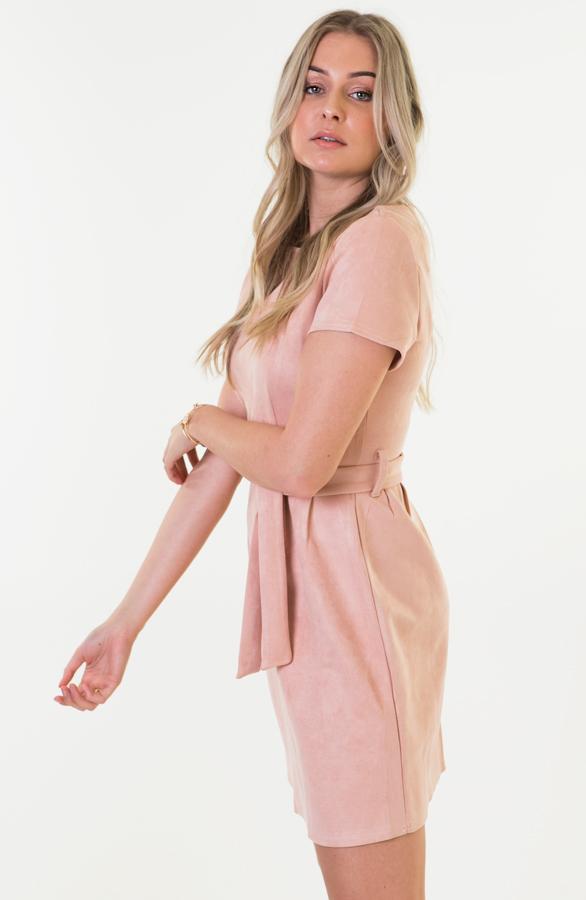 Margot-Suede-Jurk-Roze-2
