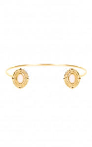 Amira-Double-White-Jade-Armband