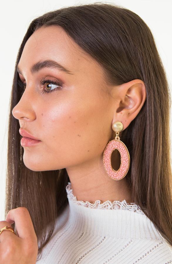 Aylin-Oval-Earrings-Pink-2'