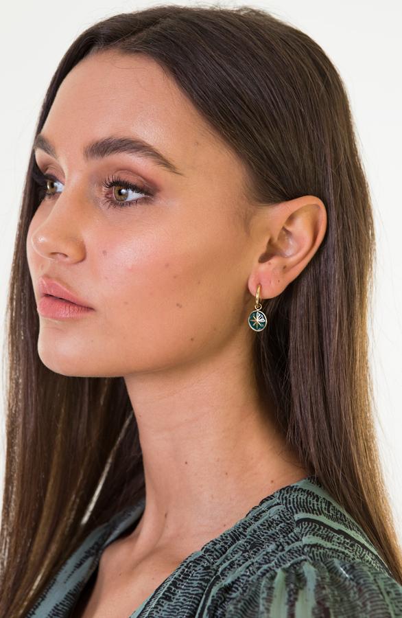 Chelsey-Star-Earring-Green-2'