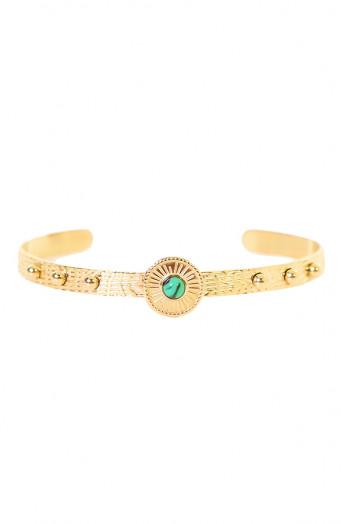 Evy-Malachite-Armband-Goud'