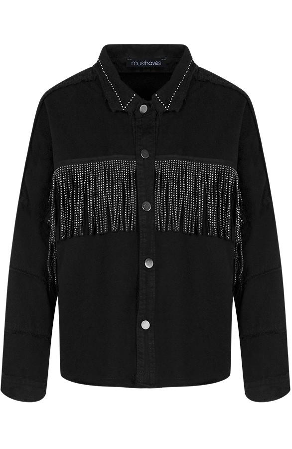 Jess-Jacket-Fringe-Zwart'