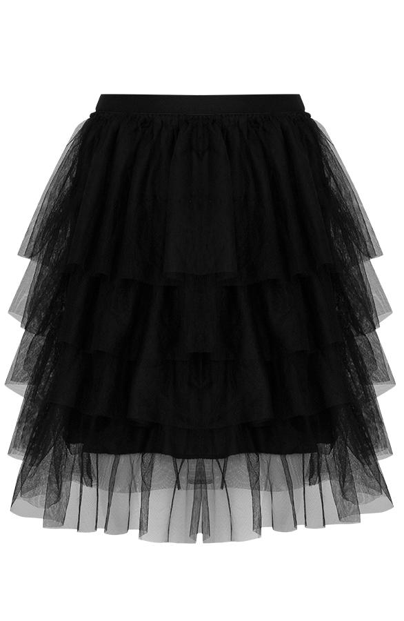 Kelly-Tule-Rok-Dames-Zwart'