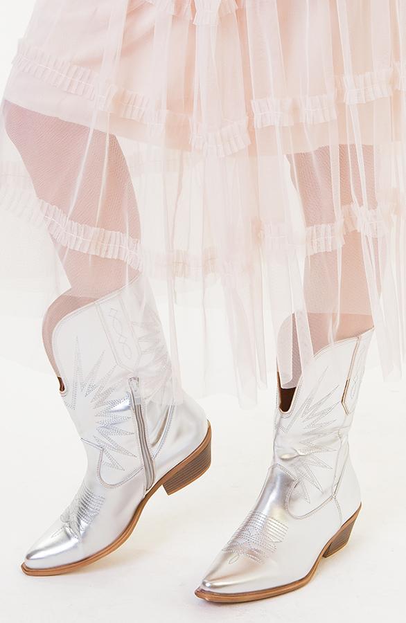 Rachel-Cowboylaarzen-Zilver-1
