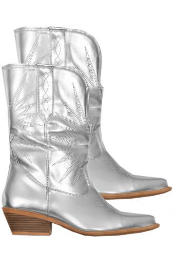 Rachel-Cowboylaarzen-Zilver'